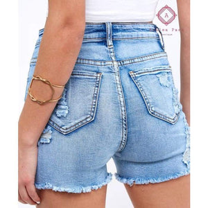 Must Have Distressed Denim Shorts - Bottoms