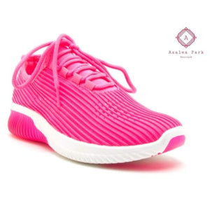 Neon Pink Athletic Shoes - Shoes & Belts