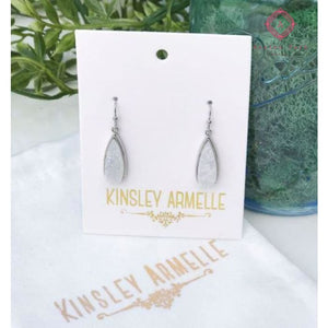 Petite Silver Quartz Drop Earrings - Kinsley Armelle