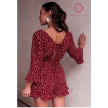 Load image into Gallery viewer, Red Wine Romper - Rompers