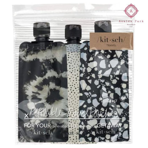 Refillable Travel Pouches - Black - Beauty