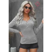 Load image into Gallery viewer, Ribbed Henley - Top