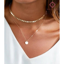 Load image into Gallery viewer, Rosa's Disc Pendant Choker - Jewelry