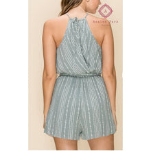 Load image into Gallery viewer, Sage Tie Back Romper - Rompers