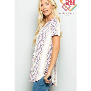 Sams Snake Print Top - Plus Tops