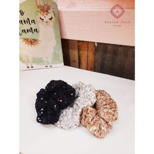Load image into Gallery viewer, Sequin Scrunchy Set - Hats & Hair Accessories
