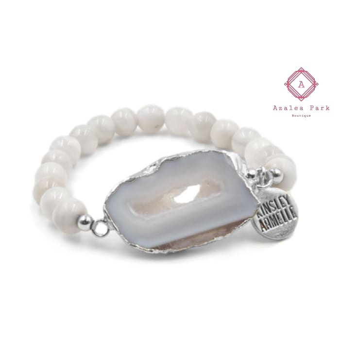 Stone Collection - Silver Flurry Bracelet - Kinsley Armelle