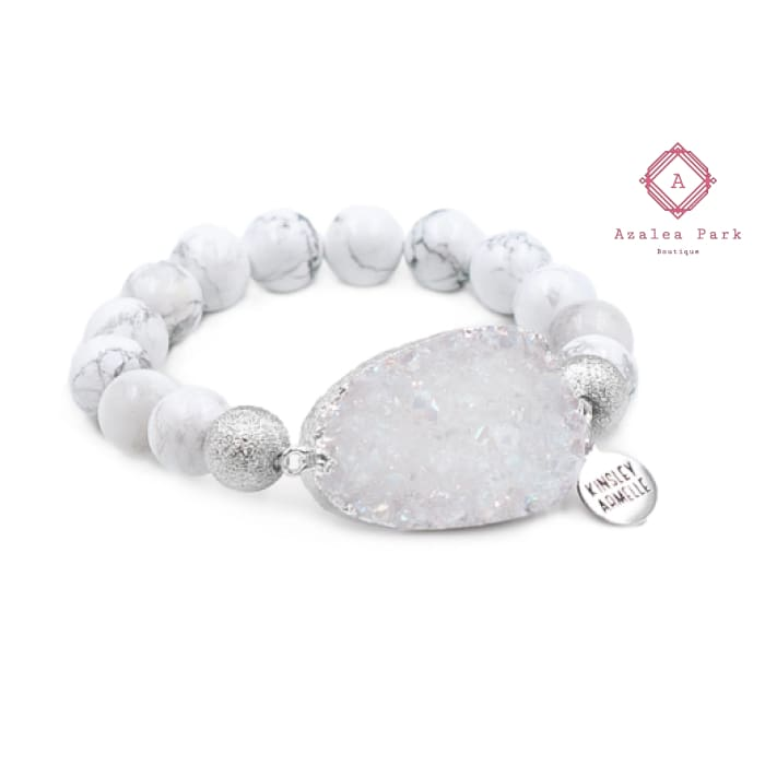 Stone Collection - Silver Pepper Bracelet - Kinsley Armelle