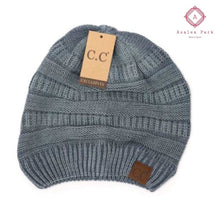 Load image into Gallery viewer, Stonewashed Classic C.C Beanie - Denim - Hats & Hair Accessories