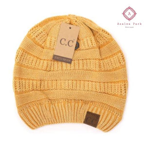 Stonewashed Classic C.C Beanie - Mustard - Hats & Hair Accessories