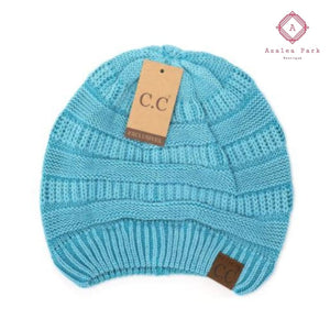 Stonewashed Classic C.C Beanie - Teal - Hats & Hair Accessories
