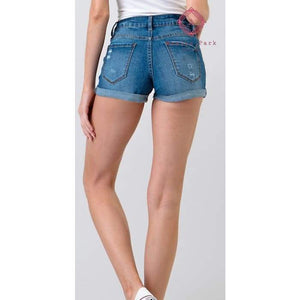 Sunset Mid Rise Denim Shorts - Young Contemporary Bottoms