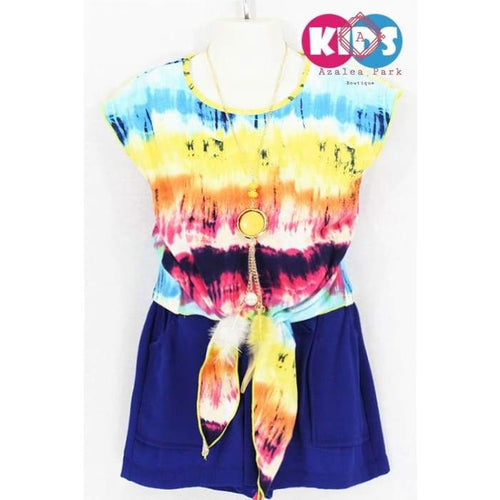 Tie Dye Top & Short Set - 4 - Girls Sets