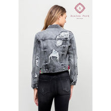 Load image into Gallery viewer, Vervet Distressed Classic Fit Jacket - Top