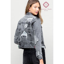 Load image into Gallery viewer, Vervet Distressed Classic Fit Jacket - S - Top