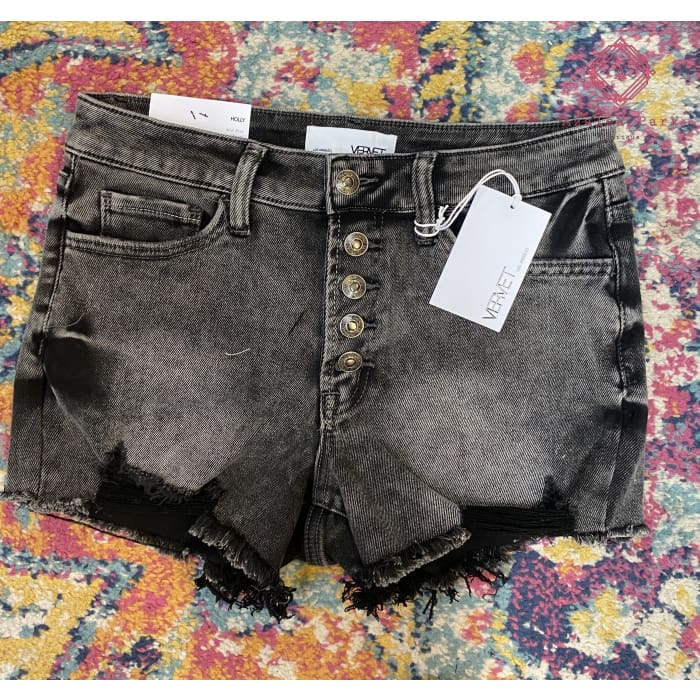 Vervet Mid-Rise Distressed Cut Offs - Bottoms