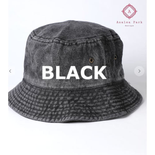 Vintage Canvas Denim Bucket Hat - Hats & Hair Accessories