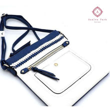 Load image into Gallery viewer, Whipstitch Colorblock Crossbody Bag - Royal Blue/Navy - Bags & Purses