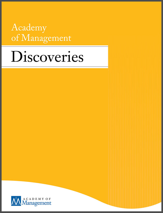 ACADEMY OF MANAGEMENT DISCOVERIES