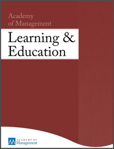 ACADEMY OF MANAGEMENT LEARNING & EDUCATION