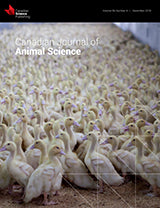 CANADIAN JOURNAL OF ANIMAL SCIENCE
