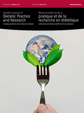CANADIAN JOURNAL OF DIETETIC PRACTICE AND RESEARCH