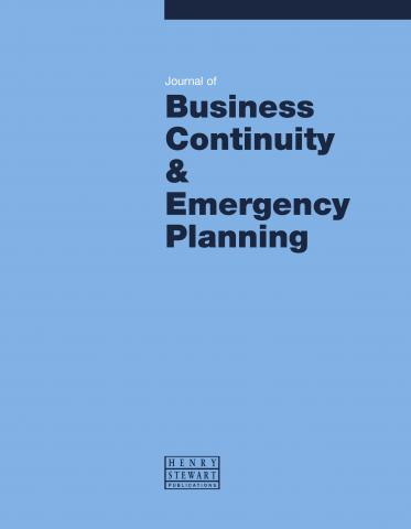 JOURNAL OF BUSINESS CONTINUITY & EMERGENCY PLANNING