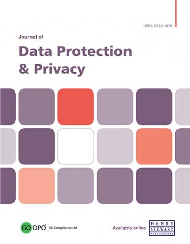 JOURNAL OF DATA PROTECTION AND PRIVACY
