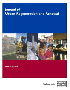 JOURNAL OF URBAN REGENERATION & RENEWAL