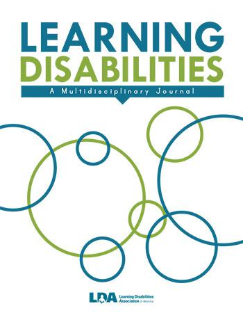 LEARNING DISABILITIES: A MULTIDISCIPLINARY JOURNAL