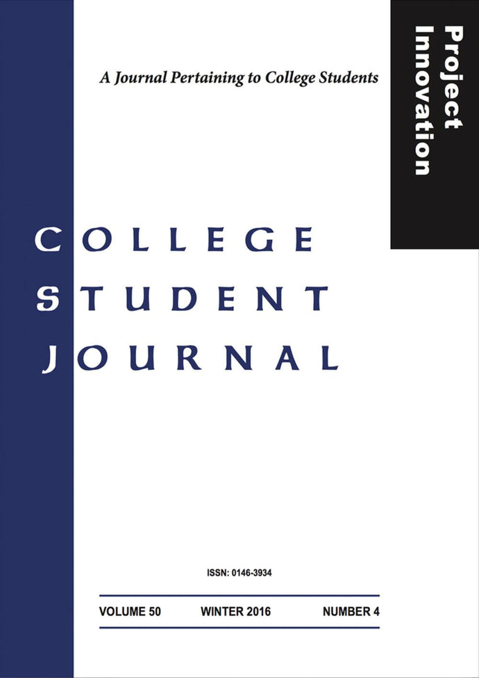 COLLEGE STUDENT JOURNAL