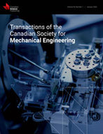 TRANSACTIONS OF THE CANADIAN SOCIETY FOR MECHANICAL ENGINEERING