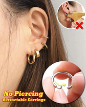 Load image into Gallery viewer, Retractable Ring Earrings Nose Ring Lip Ring