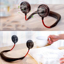 Load image into Gallery viewer, Rechargeable Neckband Fan