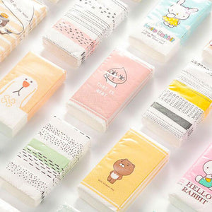 (36 Pack!)/Lot New Color Printed Tissues Fashion Environmental Animal Pack 10 Sheet Cute Portable Facial Tissue