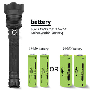 90000 LUMENS XHP70.2 MOST POWERFUL FLASHLIGHT( BUY 2 GET 1 FREE!)