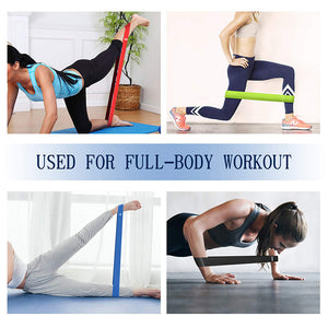 Fitness Yoga Resistance Bands Health Elastic Sport Body Latex Belt Pull Strap Force Arm Thigh Strength Training Strap(5 packs)