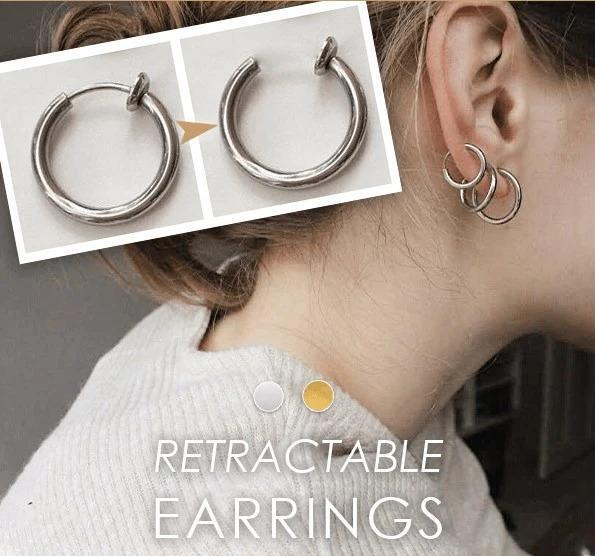 Retractable Ring Earrings Nose Ring Lip Ring