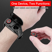 Load image into Gallery viewer, Trackbuds Smart Watch with Bluetooth Earbuds