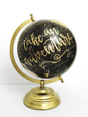 Hand Lettered Globes
