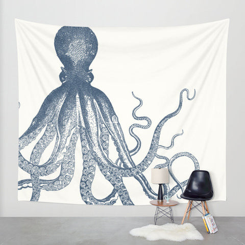 Wall Tapestry // Nautical Octopus
