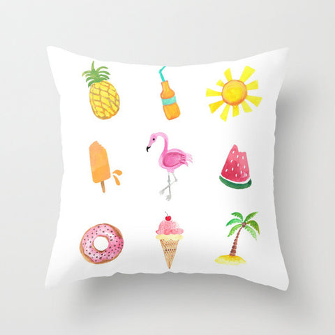 Pastel Summer Dreams Throw Pillow