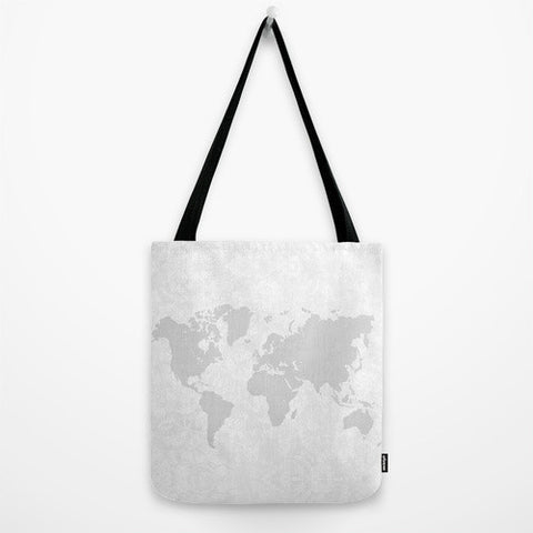 Intricate World Map Tote Bag