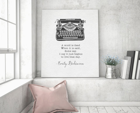 Emily Dickinson Quote Canvas - Choose Size