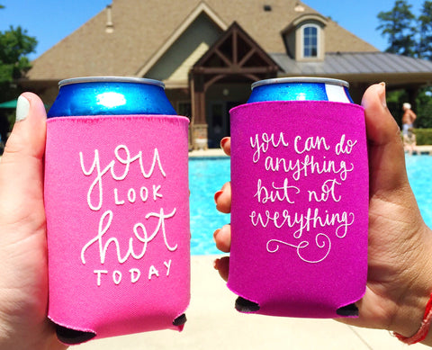 Pack of 6 Koozies // Hand Lettered