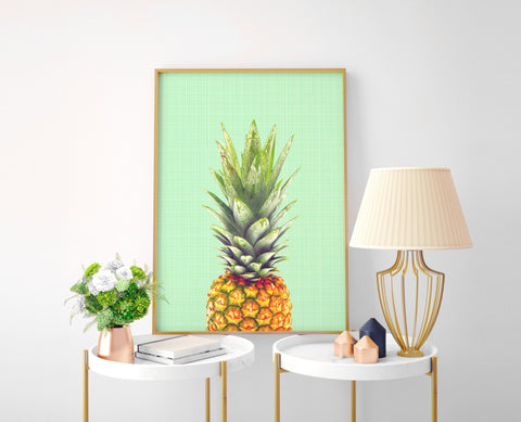 Pineapple Pop Art Print - Choose Size