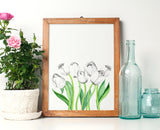 Watercolor Tulips Print - Choose Size & Color