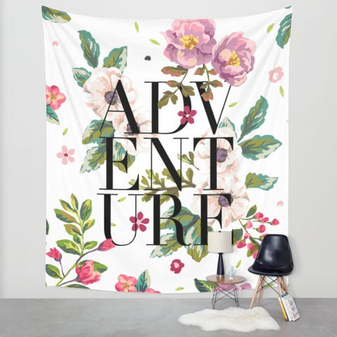 Adventure Floral Wall Tapestry