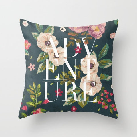 Adventure Floral Throw Pillow