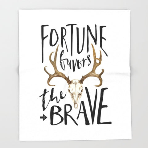 Fortune Favors the Brave Ultra-Soft Throw Blanket